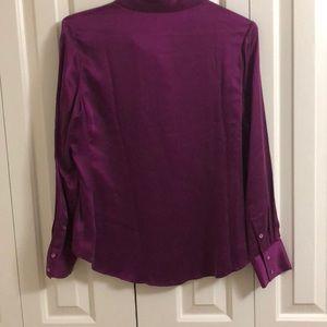 Pure Collection Tops - Pure 100% silk blouse size 8-10 purple blouse